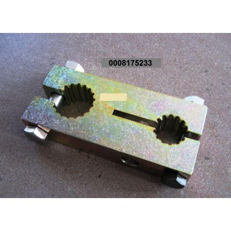 Łącznik wałków podajnika 2 x wielowpust fi 25/35mm
