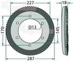 Koło talerzowe skośne Z-83 fi 145mm+wałek Z-12